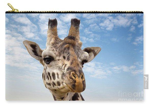Giraffe In The Masai Mara Carry-all Pouch