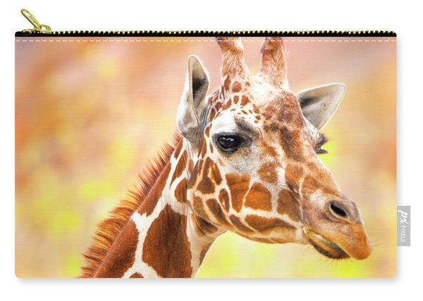 Giraffe, Animal Decor, Nursery Decor,  Carry-all Pouch