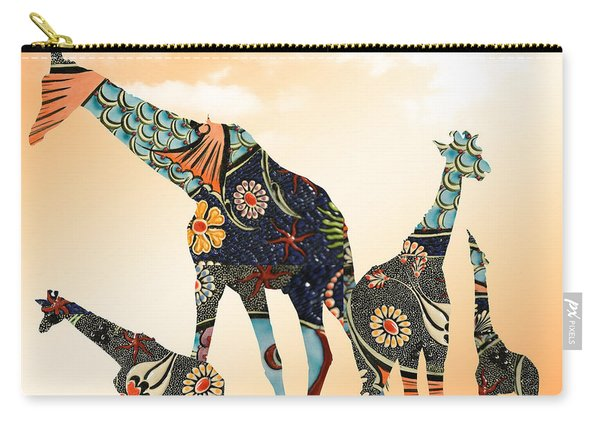 Giraffe Stroll Carry-all Pouch