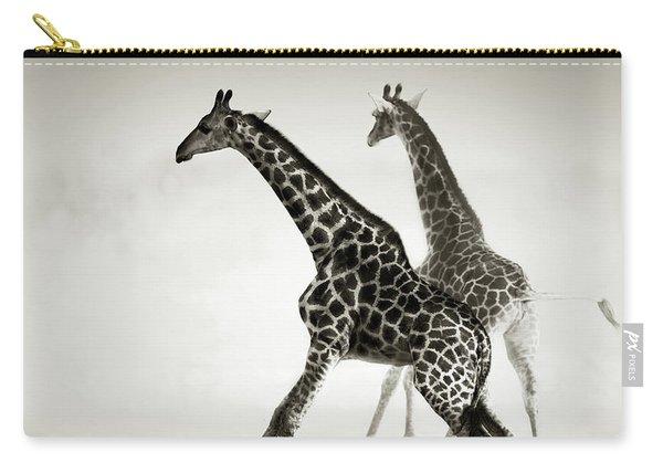 Giraffes Fleeing Carry-all Pouch