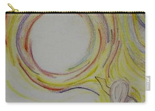 Girl And Universe Creative Connection Carry-all Pouch