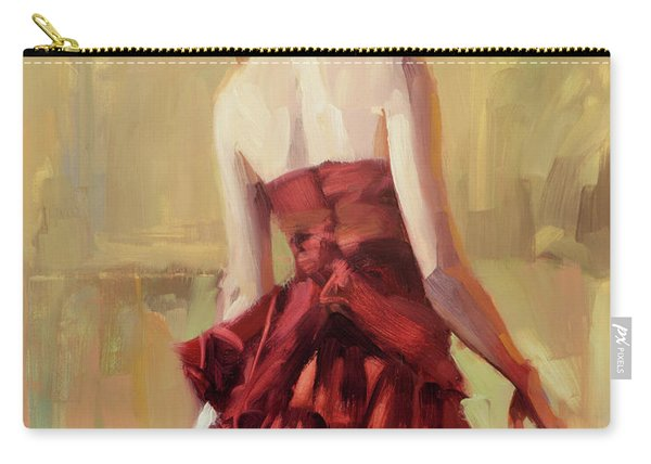 Girl In A Copper Dress II Carry-all Pouch