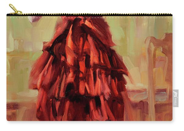 Girl In A Copper Dress IIi Carry-all Pouch