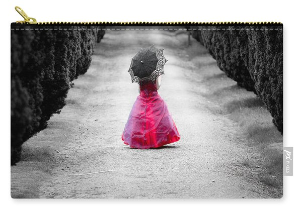 Girl In A Red Dress Carry-all Pouch