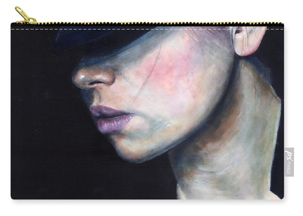 Girl In Black Hat Carry-all Pouch