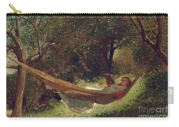 Girl In The Hammock Carry-all Pouch