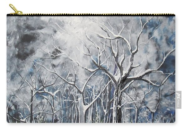 Girl In The Woods Carry-all Pouch