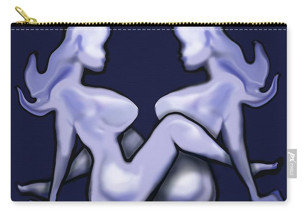 Girl On Girl Action Carry-all Pouch