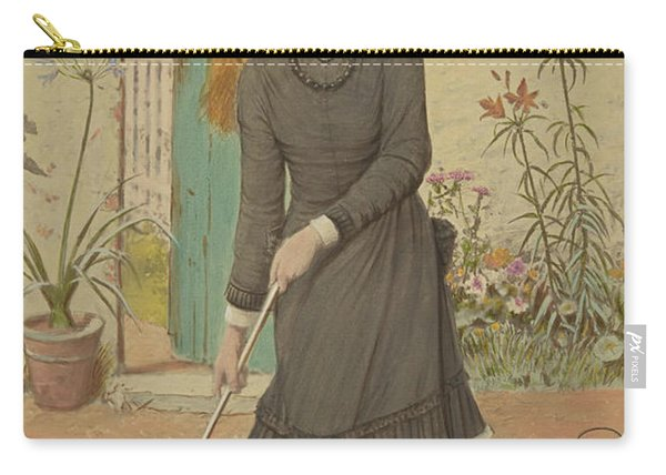 Girl Playing Croquet Carry-all Pouch
