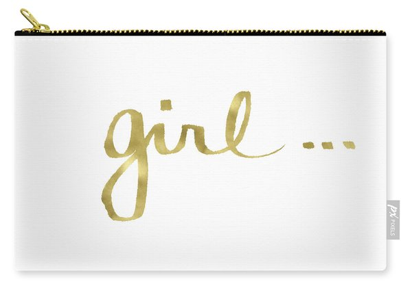 Girl Talk Gold- Art By Linda Woods Carry-all Pouch