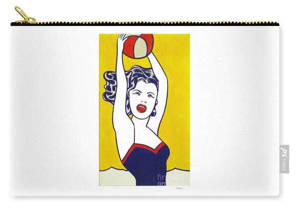 Girl With Ball - Pop Art - Roy Lichtenstein Carry-all Pouch