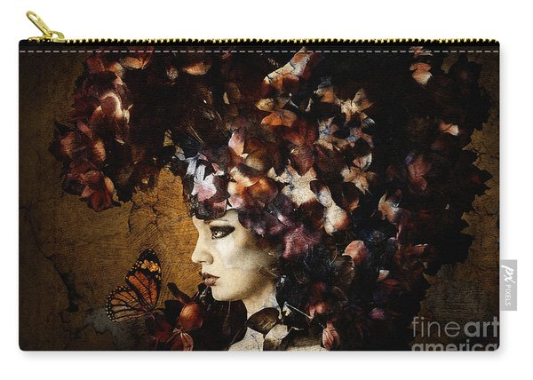 Girl With Flower Hat Carry-all Pouch