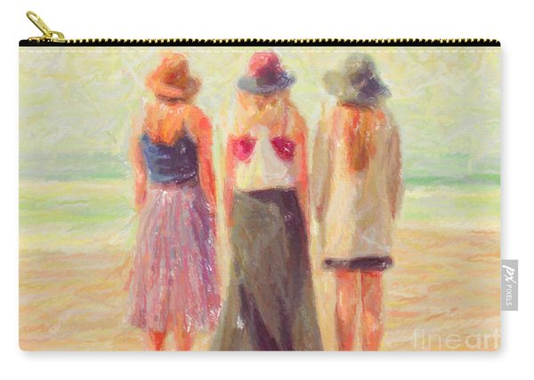 Girlfriends At The Beach Carry-all Pouch