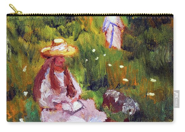 Girls In The Field, After Monet Carry-all Pouch