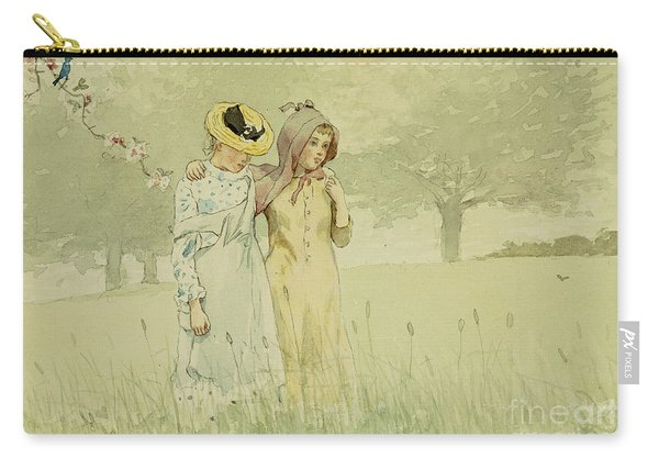 Girls Strolling In An Orchard Carry-all Pouch