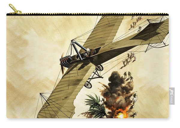 Giulio Gavotti Drops The First Bomb From A Plane Carry-all Pouch