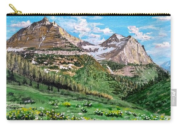 Carry-all Pouch featuring the painting Glacier Summer by Kevin Daly