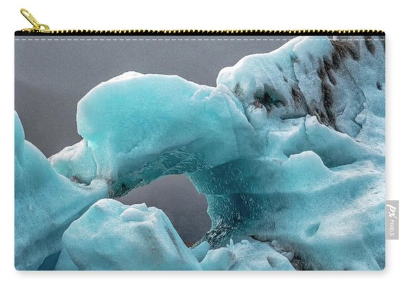 Carry-all Pouch featuring the photograph Glacier With Hole by Tom Singleton