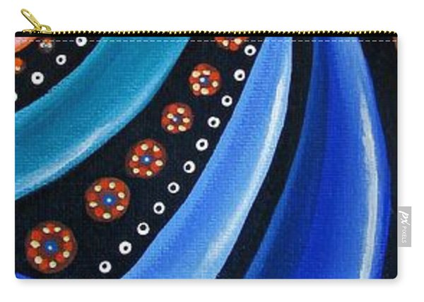 Abstract Eye Art Acrylic Eye Painting Surreal Colorful Chromatic Artwork Carry-all Pouch