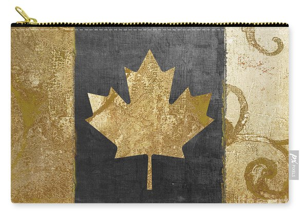 Glamour Gold Canada Flag Carry-all Pouch