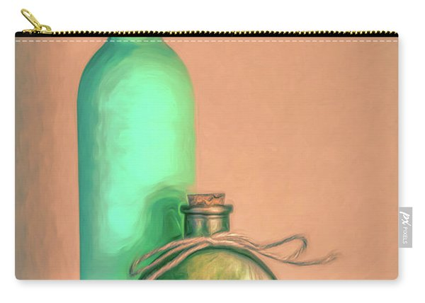 Glass Bottle Composition Carry-all Pouch
