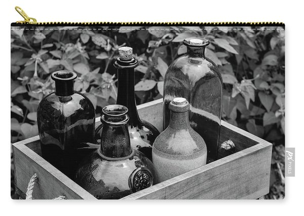 Glass Bottles In The Garden Carry-all Pouch