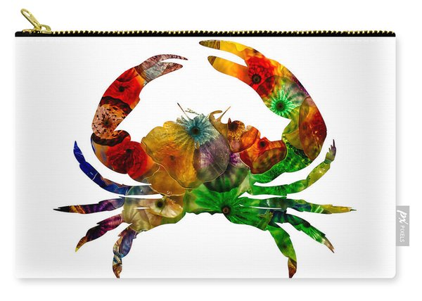 Carry-all Pouch featuring the photograph Glass Crab by Michael Colgate