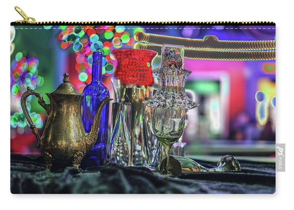 Glass In The Frame Of Colorful Hearts Carry-all Pouch