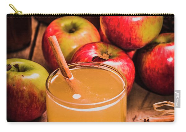 Glass Of Fresh Apple Cider Carry-all Pouch