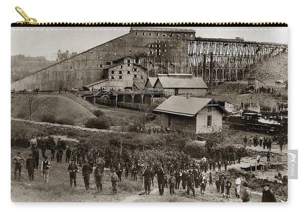 Glen Lyon Pa Susquehanna Coal Co Breaker Late 1800s Carry-all Pouch