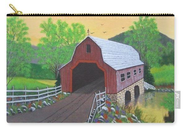 Glenda's Covered Bridge Carry-all Pouch