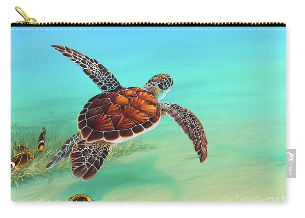 Gliding Through The Sea Carry-all Pouch