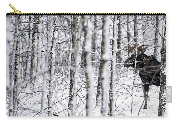 Glimpse Of Bull Moose Carry-all Pouch