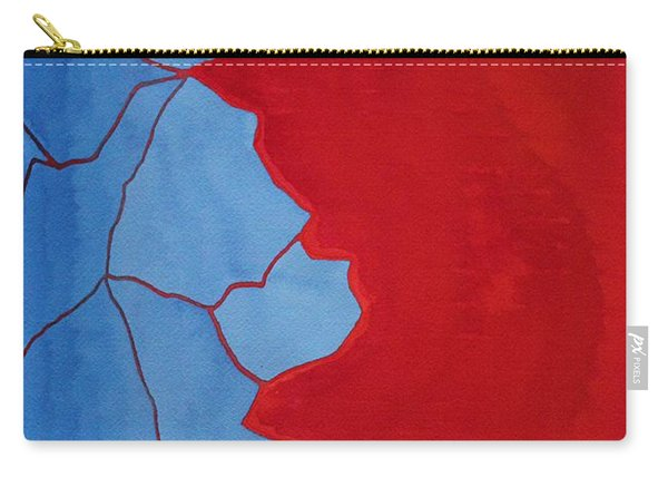 Glitch In The Matrix Original Painting Carry-all Pouch