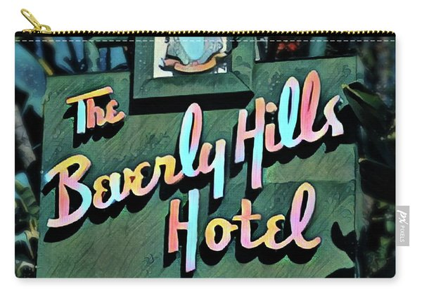 Glitzy Beverly Hills Hotel Carry-all Pouch