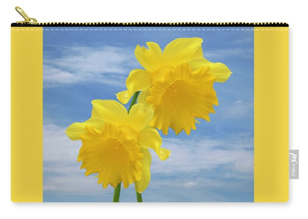 Glorious Spring Daffodils Square Carry-all Pouch