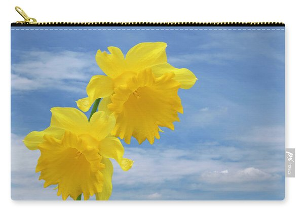 Glorious Spring Daffodils With Blue Sky Carry-all Pouch