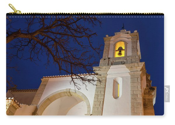 Gloriously Lit Blue Hour - Igreja De Santo Antonio In Lagos Portugal Carry-all Pouch