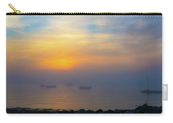 Gloucester Harbor Foggy Sunset Carry-all Pouch