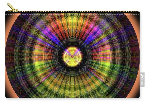 Carry-all Pouch featuring the digital art Glow Wheel Eight by Visual Artist Frank Bonilla
