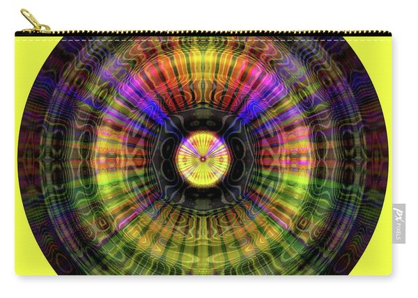 Carry-all Pouch featuring the digital art Glow Wheel Nine by Visual Artist Frank Bonilla