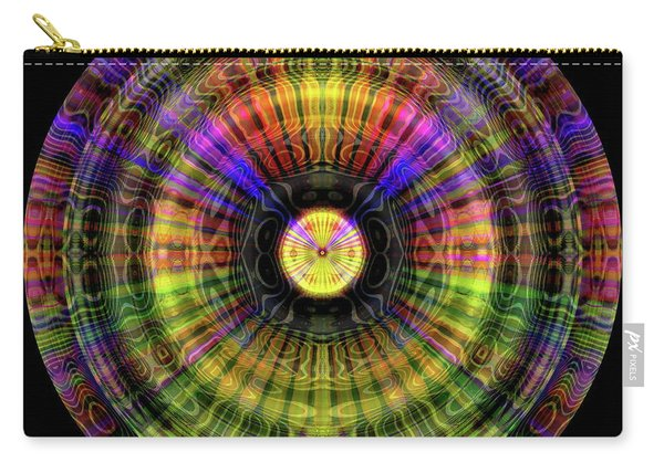 Carry-all Pouch featuring the digital art Glow Wheel One by Visual Artist Frank Bonilla