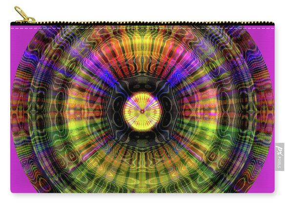 Carry-all Pouch featuring the digital art Glow Wheel Three by Visual Artist Frank Bonilla