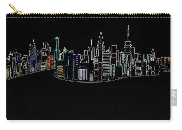 Glowing City Carry-all Pouch