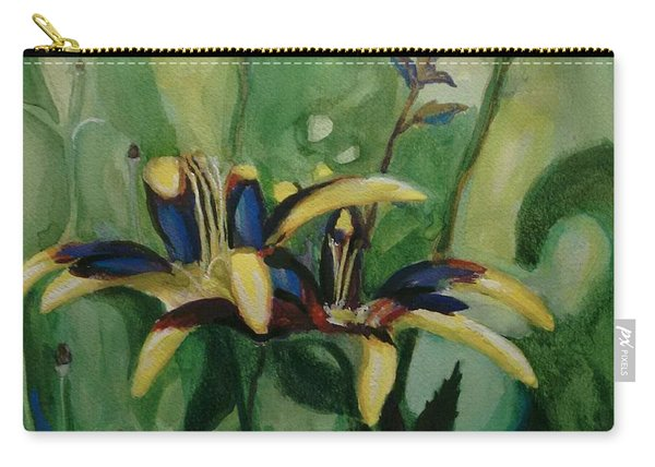 Glowing Flora Carry-all Pouch
