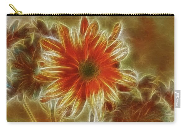 Glowing Flower Carry-all Pouch