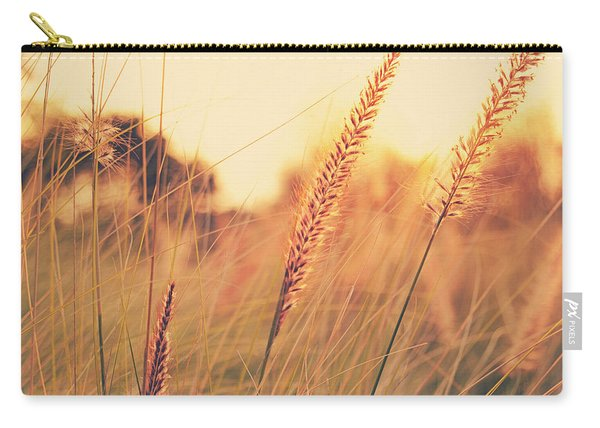 Glowing Fountain Grass - Hipster Photo Square Carry-all Pouch