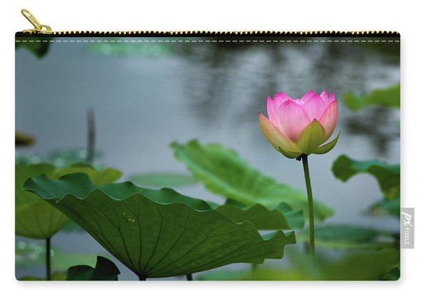 Glowing Lotus Lily Carry-all Pouch