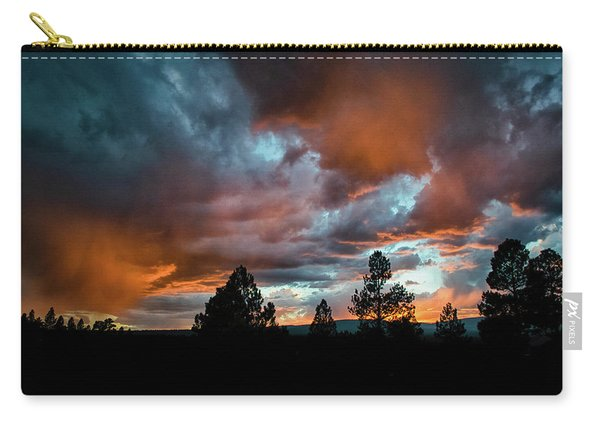 Carry-all Pouch featuring the photograph Glowing Mists by Jason Coward