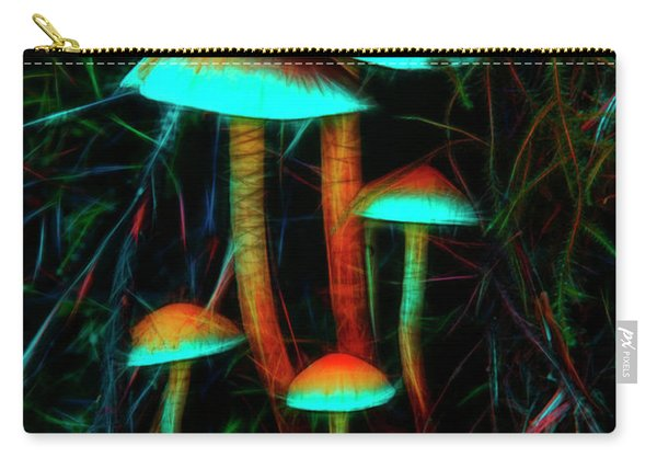 Glowing Mushrooms Carry-all Pouch
